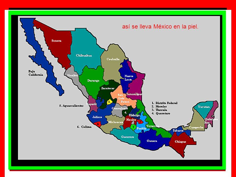 así se lleva México en la piel.