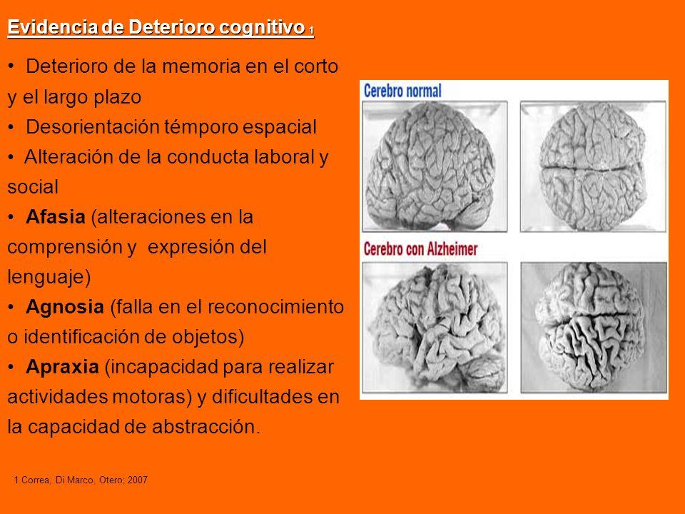 V a r i a b l e s Grados de demencia Grados de demencia (Bagnati): DCM --> Daño cognitivo mínimo.