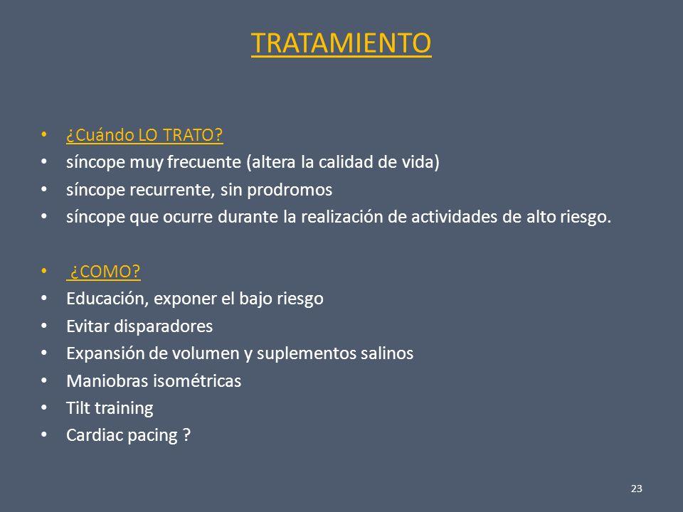 Principios globales del tratamiento del síncope 1.