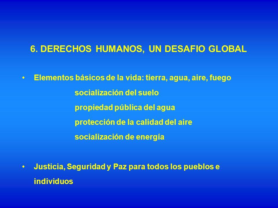 Derechos individuales y colectivos Igualdad de todas las personas que habitan un territorio.