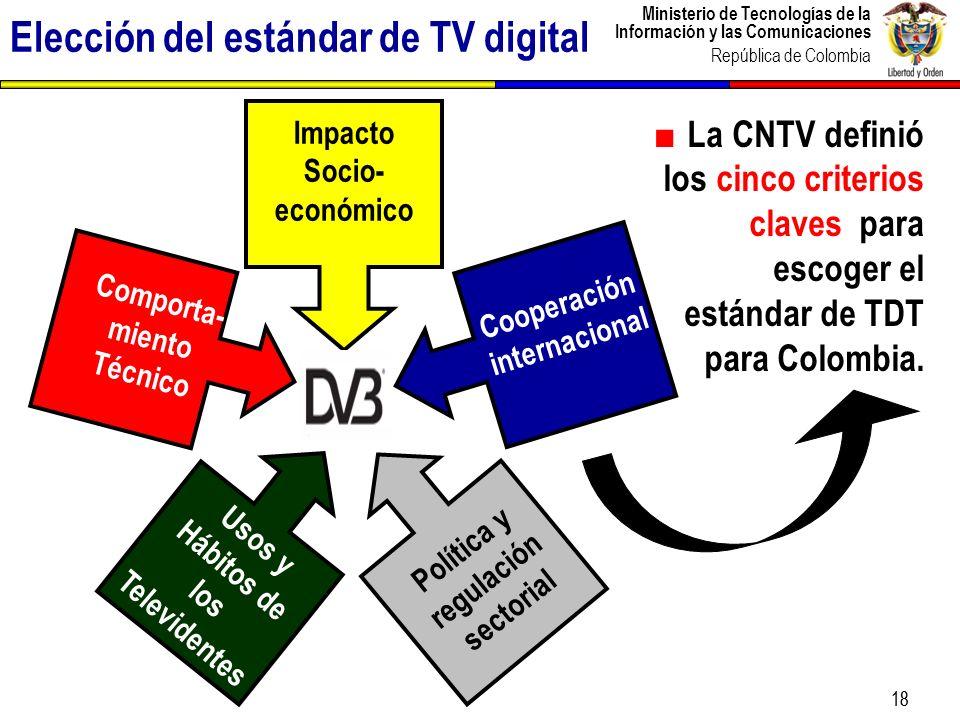 Ministerio de Tecnologías de la Información y las Comunicaciones República de Colombia 19 Estudio contratado por la CNTV y elaborado por Ipsos-Napoleón Franco.
