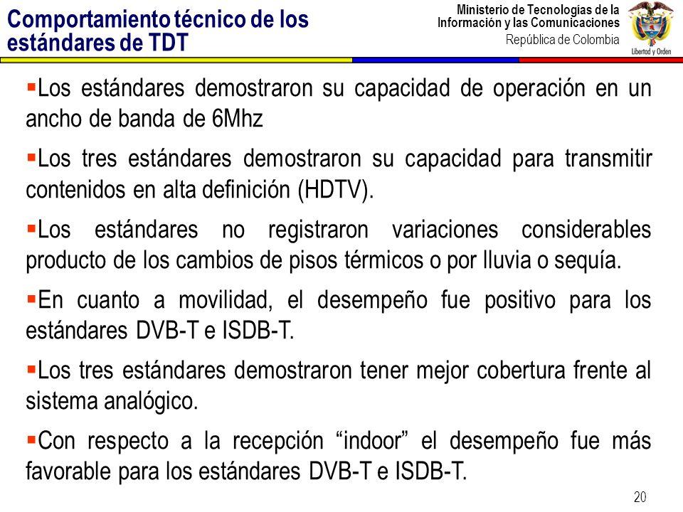 Ministerio de Tecnologías de la Información y las Comunicaciones República de Colombia 21 Con la implementación de la televisión digital en Colombia, el 70% de los hogares decide adquirir un TVD o un STB, el restante 30% se suscribe a televisión paga lo cual no obliga a cambiar el terminal.