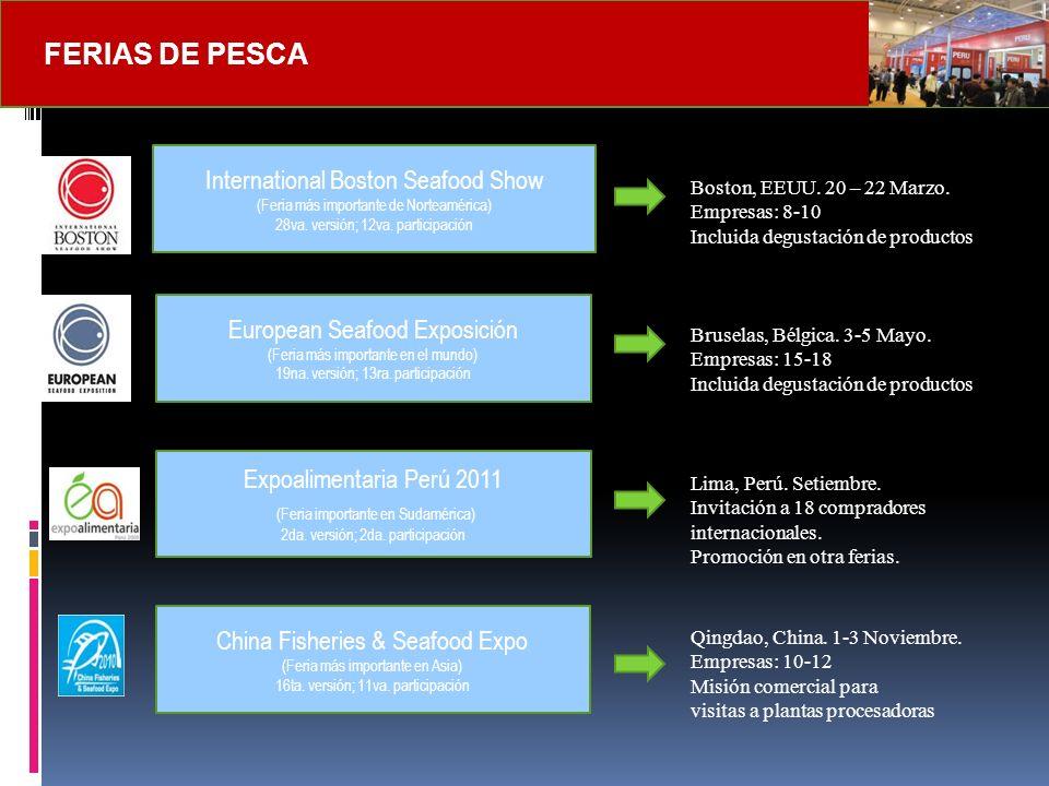 Feria Especializada más importante para productos pesqueros.