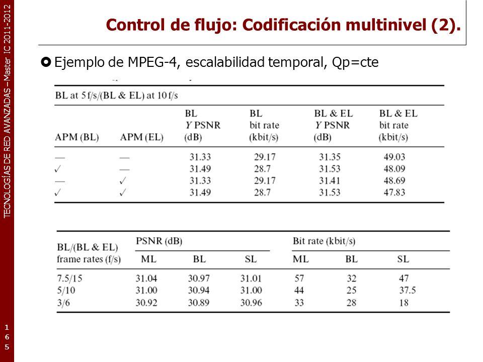 TECNOLOGÍAS DE RED AVANZADAS – Master IC 2011-2012 Protección y ocultación de errores.