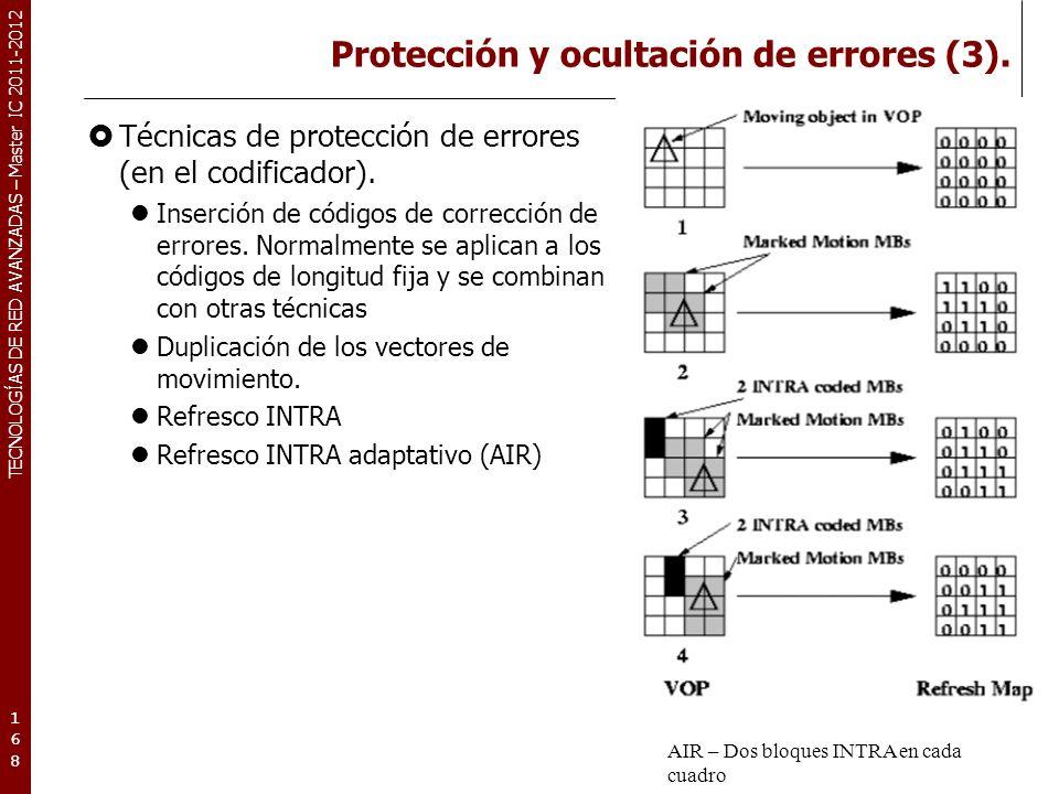 TECNOLOGÍAS DE RED AVANZADAS – Master IC 2011-2012 Conclusiones.