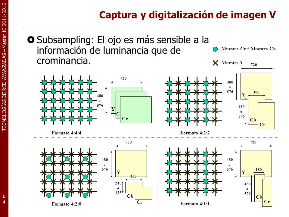 TECNOLOGÍAS DE RED AVANZADAS – Master IC 2011-2012 Tipos de imagen (según su resolución) La resolución de una imagen se mide según el número de píxels por lado (ancho x alto).