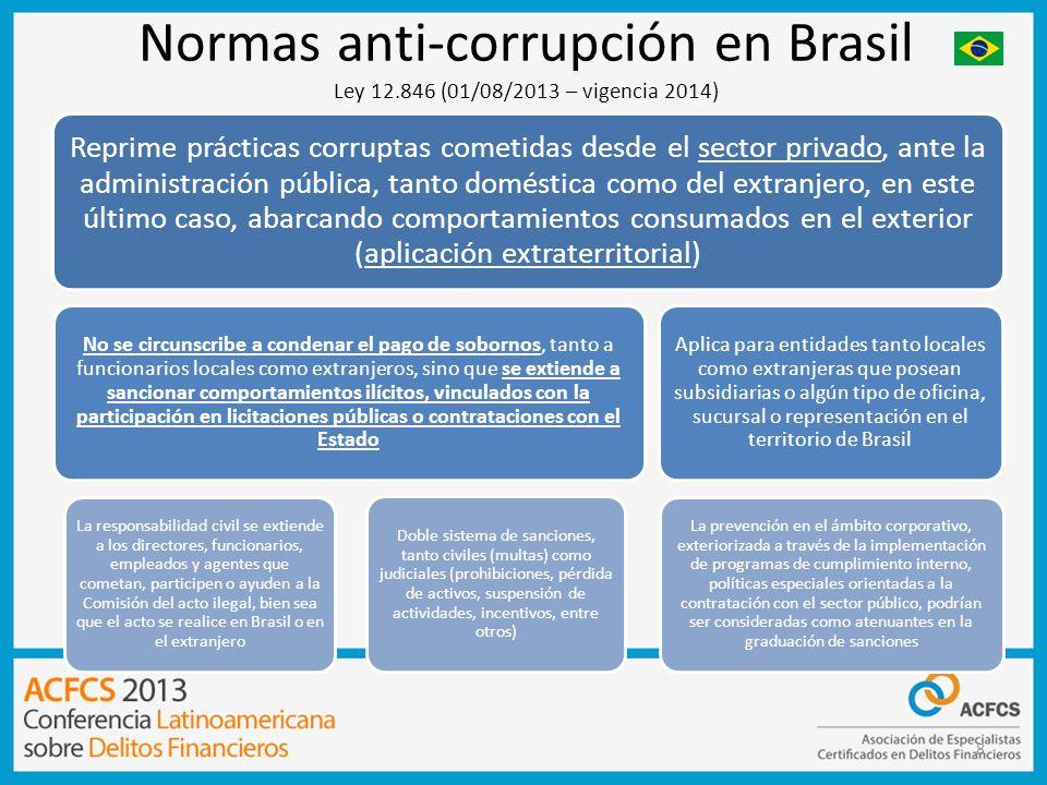 9 La ley tipifica como delito el que una persona o entidad cometa un acto ilícito que va en contra de la administración pública del gobierno nacional o extranjero o contra pactos en los que Brasil es signatario.
