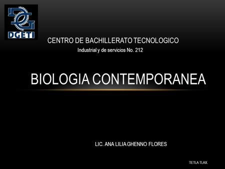 BIOLOGIA CONTEMPORANEA