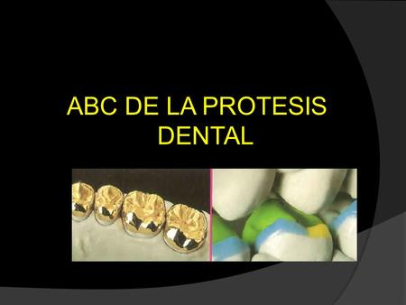 ABC DE LA PROTESIS DENTAL