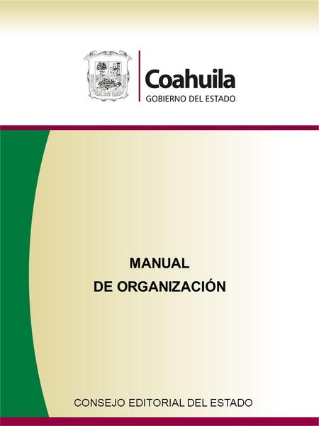 MANUAL DE ORGANIZACIÓN CONSEJO EDITORIAL DEL ESTADO.