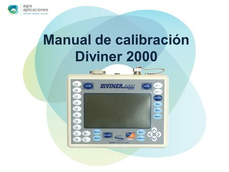 Manual de calibración Diviner 2000
