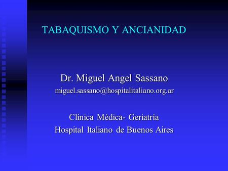 TABAQUISMO Y ANCIANIDAD