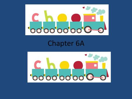 Chapter 6A Choo-Choo. Translate: My orange night stand is small. Mi mesita anaranjada es pequeña.