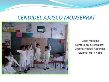 CENDIDEL AJUSCO MONSERRAT