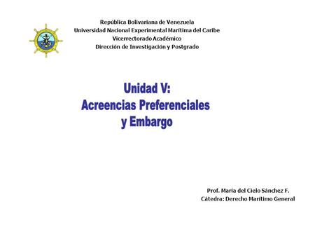 Acreencias Preferenciales y Embargo