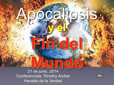 Conferencista: Timothy Archer