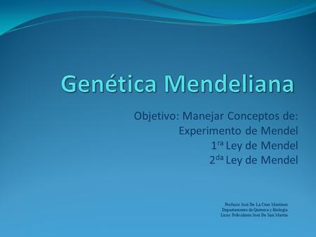 Patrones de herencia monogenica mendeliana