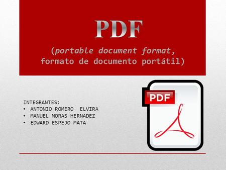 (portable document format, formato de documento portátil)