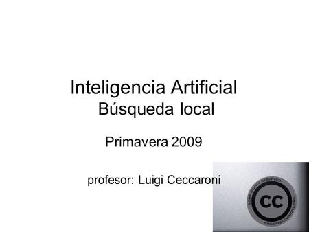 Inteligencia Artificial Búsqueda local