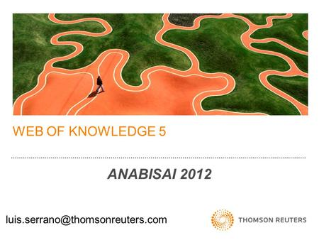 WEB OF KNOWLEDGE 5 ANABISAI 2012.