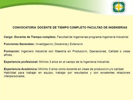 Solicitud de inscripci n ppt descargar for Convocatoria docentes exterior