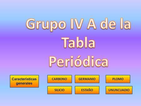 Grupo 13 de la tabla periodica