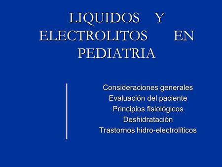 Electrolitos sericos valores normales