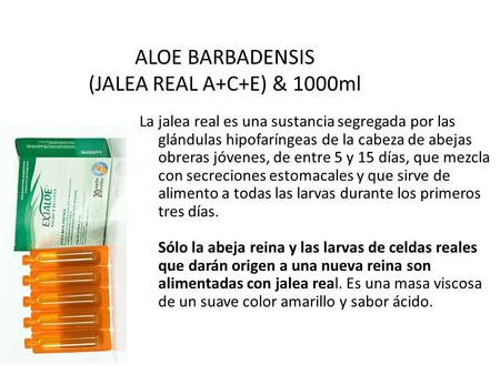 ALOE BARBADENSIS (JALEA REAL A+C+E) & 1000ml