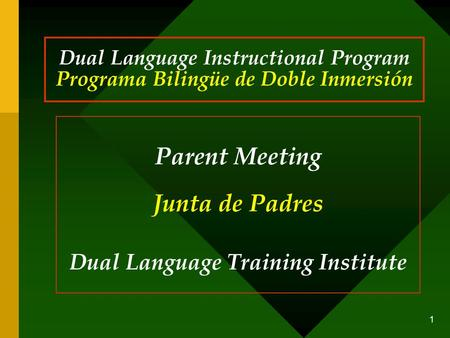 Dual Language Training Institute