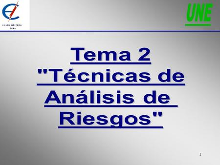 1. 2 Orden de la presentación:  Checklist  What if?  Checklist/What if?  FMEA  Comparación de técnicas.