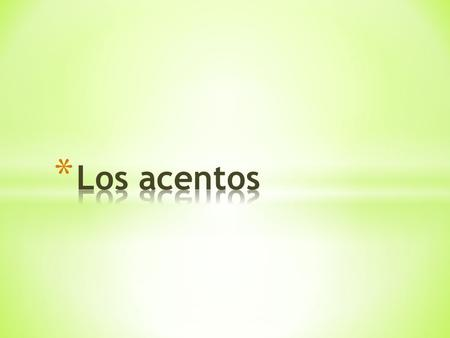 Do you know where accents go in Spanish? You could memorize them word by word, or you can just learn a few rules. ´