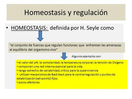 Homeostasis y regulación