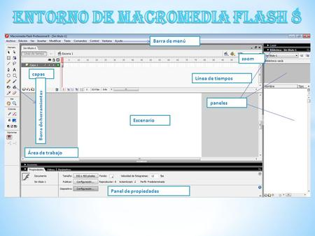 ENTORNO DE MACROMEDIA FLASH 8