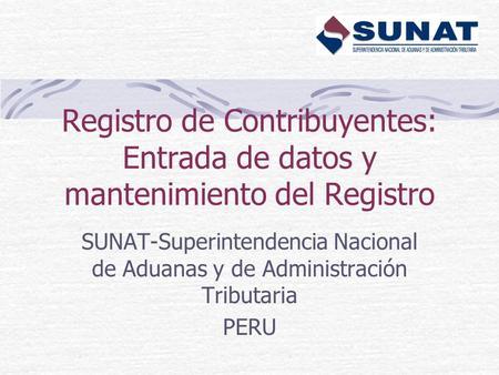Servicios de rentas internas 2013 el registro de for Oficina nacional de gestion tributaria