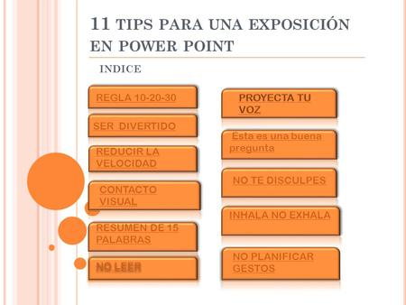 11 tips para una exposición en power point
