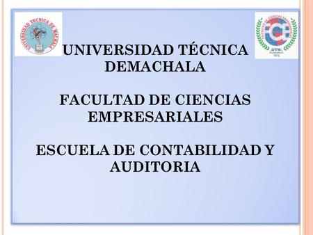 UNIVERSIDAD TÉCNICA DEMACHALA
