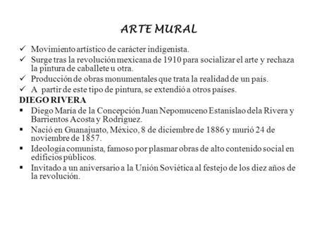 Muralismo identidad nacional ppt descargar Espectaculo artistico de caracter excepcional