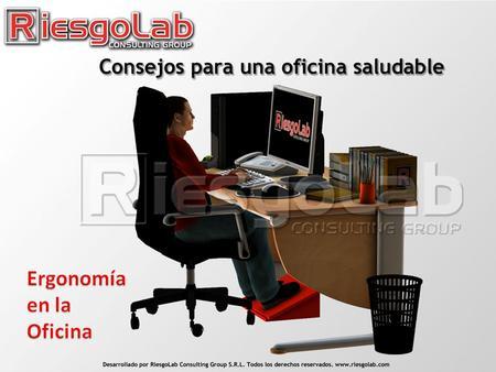 Enfermedades profesionales ppt video online descargar for Ergonomia en la oficina