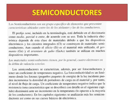 SEMICONDUCTORES.