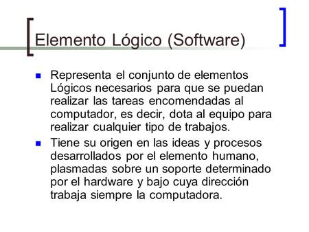 Elemento Lógico (Software)