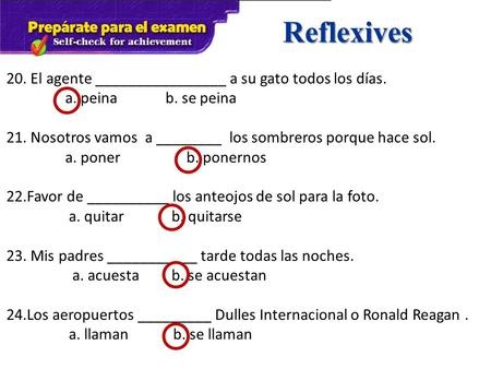 Fall – Spanish 2 Mid-term Review. Present Tense Verbs 2 ...