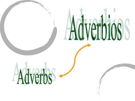 Adverbios Adverbs.
