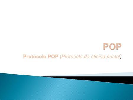 Funcionamiento del servicio de correo electr nico ppt for Protocolo pop