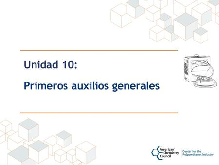 Unidad 10: Primeros auxilios generales. Disclaimer This material was produced under grant number SH-22308-11 from the Occupational Safety and Health Administration,