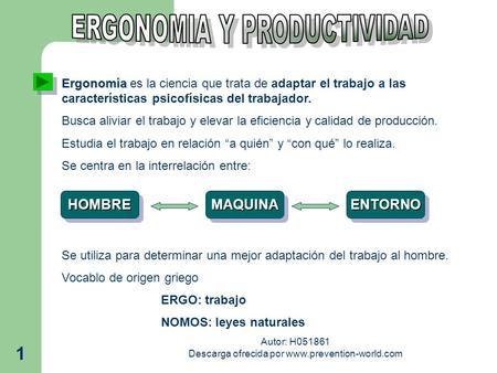 Enfermedades profesionales concepto se denomina for Caracteristicas de la ergonomia