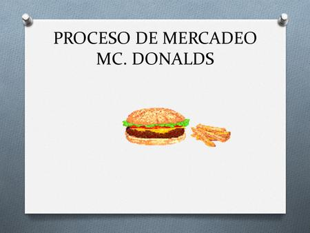 PROCESO DE MERCADEO MC. DONALDS