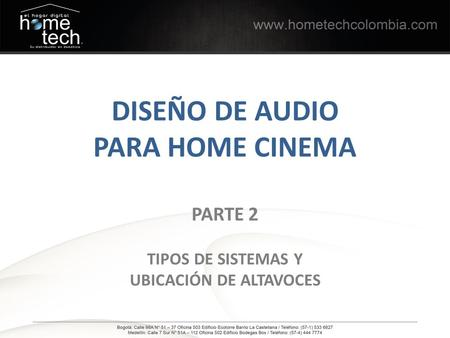 DISEÑO DE AUDIO PARA HOME CINEMA