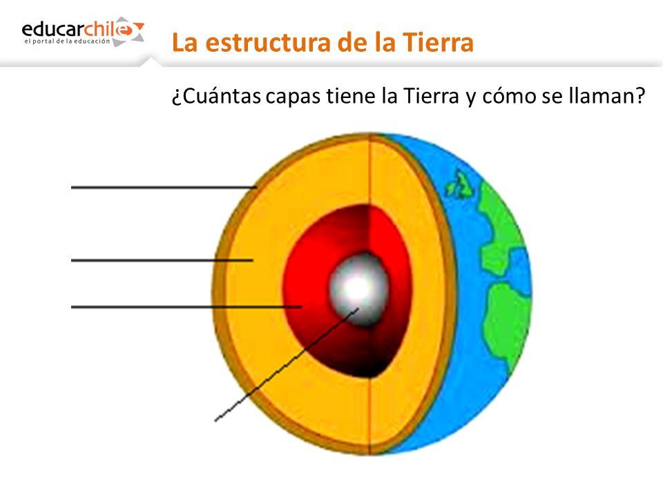 La estructura de la Tierra ¿En qué se diferencian las capas de la Tierra?