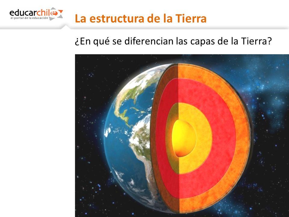 La estructura de la Tierra ¿Cambia la temperatura entre las distintas capas?