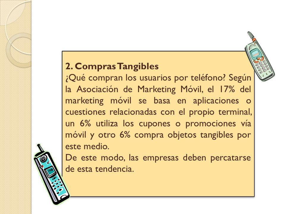 3.Marketing puro y duro El móvil es la herramienta perfecta para publicitarse o promocionarse.